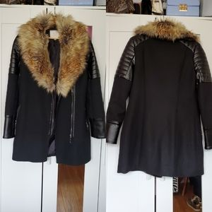 Vera & Lucy Moto Style Faux Leather & Fur …